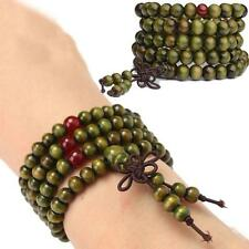 Sandalwood 6mm Bead Mala Buddhist Buddha Meditation 108 Prayer Bracelet Necklace