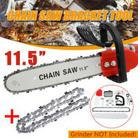 "11.5"" Electric Chainsaw Stand Adaptor Bracket Changed Wood Cut Grinder Chain  W"