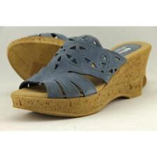 Sandali e scarpe blu marca Spring Step per il mare da donna tacco medio ( 3,9-7 cm )