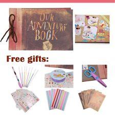 Woodmin Our Adventure Book DIY Scrapbook Album SET Wedding Guestbook Anniversary