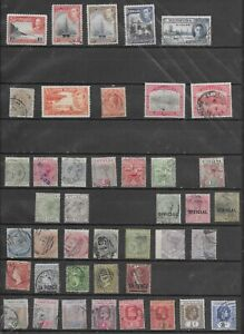 4111: British Caribbean; Collection of 68 (7 mint) stamps. Barbados St. Vincent