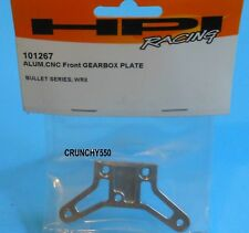 HPI Racing 101267 Bullet Series WR8 Aluminum CNC Front Gearbox Plate RC Part