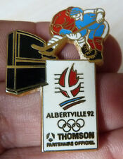 PIN'S HOCKEY SUR GLACE JEUX OLYMPIQUES 92 ALBERVILLE THOMSON ZAMAC