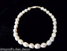 Freshwater Rice Pearl Bracelet with Barrel Clasp