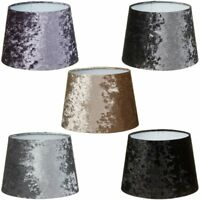 Luxe Crushed Velvet Effect Dual Purpose Lampshade Lightshade Shade 9""