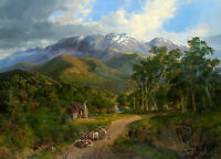 "Nicholas Chevalier - ""The Buffalo Ranges""  Canvas Prints Framed & Ready to Hang"