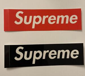 Set Stickers Supreme  Box Logo Black RED Transparent FW21 Bogo