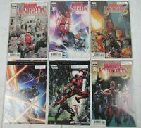 Marvel Knights 20th #1-6, 2019 Marvel Comics Lot of 6 Comics