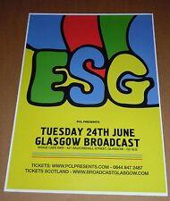 ESG - rare UK live music show tour concert / gig poster - june 2014