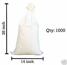 """Sandbags For Sale - 1000 White 14"""" x 26"""" Sandbag Sand Bags Bag Poly by Sandbaggy"""
