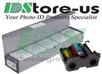 Fargo 45000 Full-Color Ribbon YMCKO & 500 Blank White PVC Cards Bundle