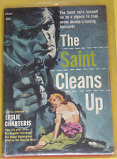 The Saint Cleans Up – Leslie Charteris Paperback Mystery! Nice See!