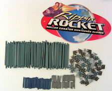 KNEX Rippin Rocket Roller Coaster 217 Rods & Track Connectors + Coaster Sign