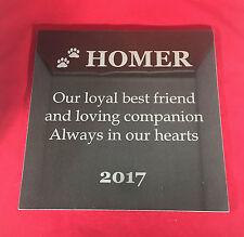 Memorial Pet Granite Square 150mm Custom Engraved personalised
