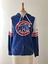 MAJESTIC AUTHENTIC FULL ZIP HOODIE SWEATER Fleece Chicago Cubs Free Shipping New