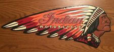 INDIAN MOTORCYCLE Metal Chief Harley Davidson Scout Vintage Style American Oil