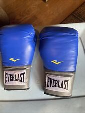 Everlast Pro Style Training Gloves Blue 16 oz. Boxing Sparring Ta:16 Light Use