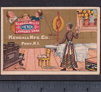 Soapine 1880's Charlotte Perkins Gilman Ironing Day Whale Soap Crate Iron Card