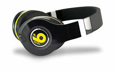 nine audio NAV-101B Vega HiFi Headphones Black & Yellow in line mic and remote