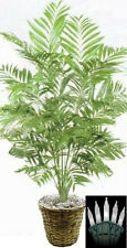 4ft PHOENIX PALM ARTIFICIAL TREE SILK PLANT BUSH in BASKET POT CHRISTMAS LIGHTS