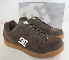 DC Shoe Company 'Hinge' BrownLeather Skateboarding Shoes US Men's 7 EU 39 NEW