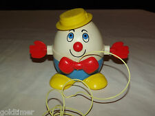 VINTAGE 1960-70S  FISHER PRICE TOYS HUMPTY DUMPTY PULL STRING TOY