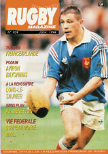 RUGBY No 939 Jan 1994 OFFICIAL MAGAZINE OF THE FFR - FRANCE