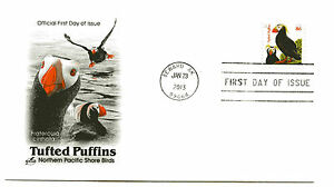 4737 86c Tufted Puffins, (orange date), ArtCraft, FDC