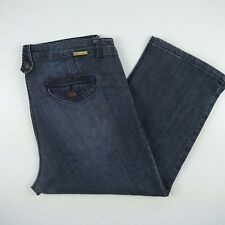 Autograph 3 Quarter Stretch Faded Denim Jeans Women's Size W35