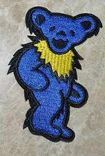 20x GRATEFUL DEAD DANCING BEAR Blue iron on patch embroidered Patches