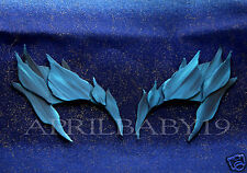 Poison Ivy Leaves BLUE Eyebrow Eye mask ICE SNOW QUEEN Comic Con Cosplay Fairy