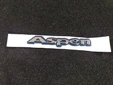 New Genuine Ford Single Aspen Badge Black & Silver
