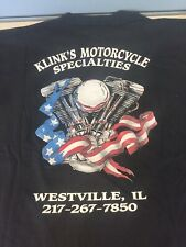 Mens  Harley Davidson Motorcycle Shirt, Circa 2000, Westville, IL. Size Is XL