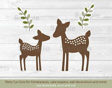 Baby Deer Party Cutouts Decorations Printable