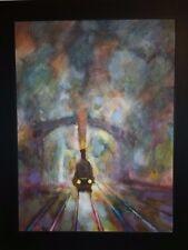 Genuine, Eugene Wallin Stunning, original train, art impressionism.