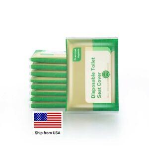 50Pcs-5 Packs Disposable Toilet Seat Cover Flushable Hygiene Pocket Travel Size