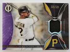 2017 Topps Tribute Baseball - Game Used Jersey #d 30/50 - ANDREW MCCUTCHEN -