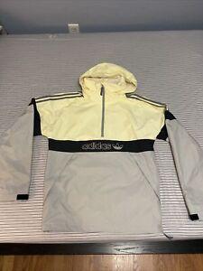 Adidas Snowboards BB Snowbreaker Anorak Snowboard Jacket Mens Small Yellow Black