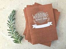 Wedding Activity Book. Kids Wedding Colouring favour x8