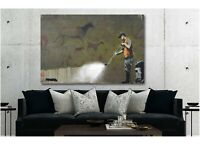 Banksy Game Changer 20x20 Wall art canvas UK Seller Free Post Limited Stock