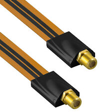 mumbi Fensterdurchführung SAT Kabel Antennenkabel 2x F-Buchse Flachkabel 26cm