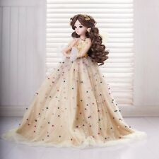 "Full Set 1/3 BJD Doll 60cm 24"" Girl SD Dolls Female Princess Wedding Dress Toys"
