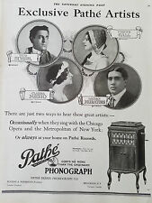 1920 Pathe Phonograph Artists Schipa Muzio Muratore Gall Original Ad