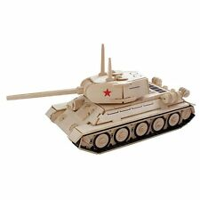 T-34 Tank Woodcraft Construction Kit- New 3D Wooden Model Puzzle For KIDS/ADULTS
