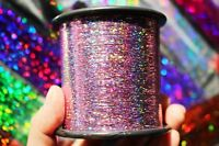 1 pcs 7000-12000m Flashabou Holographic Tinsel Crystal Flash Fly Tying Materials
