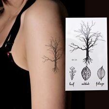 Flash Einmal Temporary Klebe Tattoo Baum Blatt Party Geschenk Strand Neu Wow
