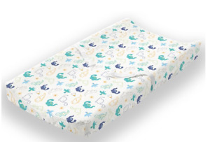 CHANGING PAD COVER -  100% COTTON- SOFT MUSLIN -  A CUTE DINO THE DINOSAUR
