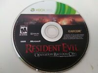 Resident Evil: Operation Raccoon City (Microsoft Xbox 360, 2012) disc only