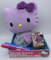 "NEW 2010 Sanrio Hello Kitty Purple Plush Stuffed 10"" Color My Dress Doll RARE"