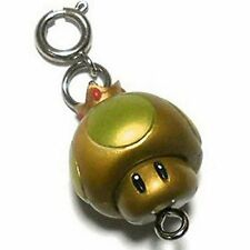 "Mario Kart 7 item Collection Keyring Keychain ~1"" - Golden Mushroom"
